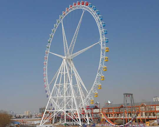 giant ferris wheel in Goldlion group - ferris wheel manufacturers china