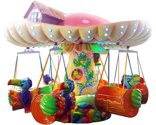 BAR-FY12b Mushroom Kiddie Wave Swinger Carnival Ride Cheap