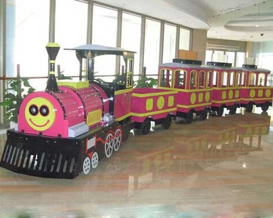 Goldlion Fiberglass Electric Trackless Train for Sale