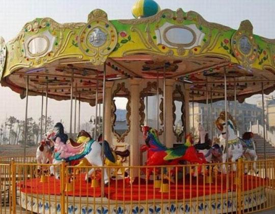 cheap outdoor electric fiberglass carousel